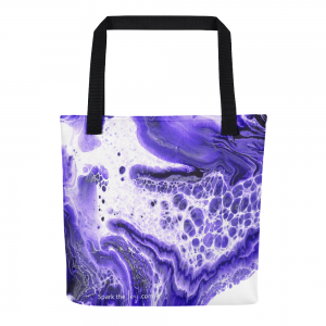 All Over Tote Bag imprinted with Intuition pattern